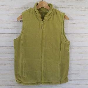 Lands' End Fleece Vest Green sz M